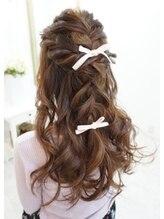 ヘアアンドメイクジップ恵比寿 (Hair&Make ZIP)編み込みアレンジハーフアップ