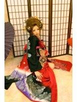 日本髪 成人式 千葉 道化師Arp 花魁