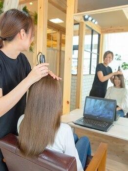 スアリ by心の郷(SUARI)の写真/あなたの髪のパートナーとして髪のお悩み等じっくりヒアリング。高い技術で理想の艶髪を叶えてくれる。