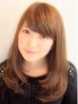 大島優子風ヘアスタイル フェミニンで人気な髪型