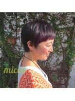 ミッカ(micca)【micca下北沢】ポイントインナーカラー☆ブラックショート