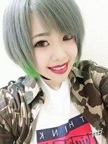 シルバー+蛍光色グリーン☆【NOAHkasiwa】