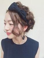 ニコ ヘアーアンドメイク(nico hair&make)nico 四編みアレンジ ウェットver