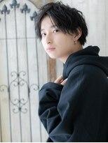 爽やか黒髪でモテる!センターパートマッシュA(草加)(メンズ)