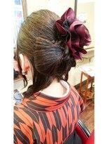 キーナ(Organic Hair KI-NA)リボンのシニヨンでシンプルかわいい☆