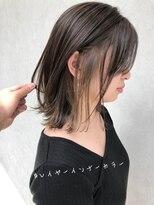 ラノバイヘアー(Lano by HAIR)【lano by hair 銀座】耳かけフォギーベージュインナーカラー
