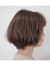 セックヘアデザイン(Sec hair design)【Sec. hair design 水戸】奥行きショートボブ+アッシュグレー