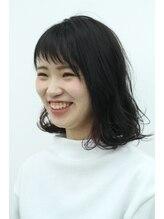 スペースヘアデザイン(SPACE hair design)春色ウェービーボブ