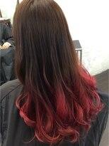 サラツヤ美髪×グラデーションカラー×毛先ピンク