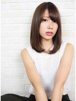 ヘアーブランド リンク 三宮店(HAIR BRAND Link)【Link】シナモンアッシュ×ストレートミディ