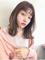 ガーデン アオヤマ(GARDEN aoyama)外ハネボブ ことりベージュ ミディアム 大人かわいい 小顔