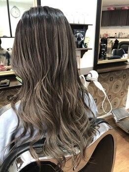 ジブドオブジェ(Jib d'obj)の写真/トレンドを取り入れた極上デザインカラーで年齢を感じさせない白髪カバーができる◎