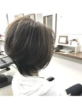 ヘアクリエイト エクセル美容室(Hair Create EXCEL)立体感ショートボブ