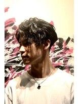 メンズヘアースパイス ユメサキ(Men's Hair SPICE -yumesaki-)前下がりスパイラル