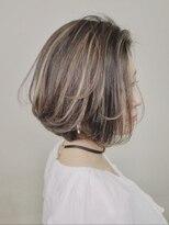 《Agu hair》ハイライト×エアリーショートボブ