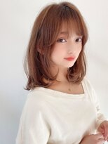 《Agu hair》ゆるふわモテ小顔ミディ