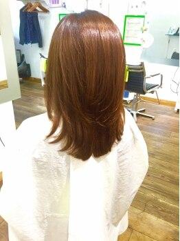 ヘアーブティック バグース(HAIR BUTIQUE Bagus)の写真/もうクセ毛で悩まない♪髪質に合わせたスタイルで、サロンを出た後もキレイ・カッコいいが続きます!!