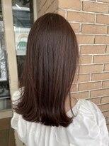 サロンドミルク 原宿(salon de MiLK)ナチュラル艶ブラウン 髪質改善 バッサリ