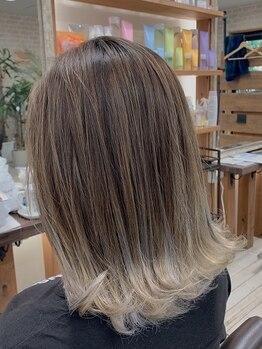 リアンフォーヘアー(Lien for hair)の写真/《エドルカラー/N.カラー取扱店》高発色&低ダメージ◎柔らかく透明感の溢れる外国人風カラーを実現!