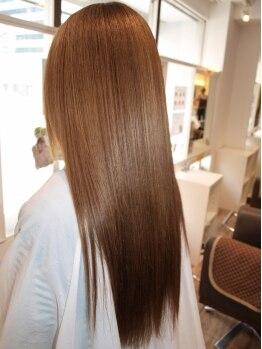 オリーブ 駒川店(Olive)の写真/【髪のエステ☆天使の輪×最強ストレート】女子が1度は憧れる!風で綺麗になびく髪を手に入れるなら♪