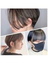 【ショートヘア×デザインカラー】独自の骨格矯正カットと圧倒的なカラーテクニックでハイセンスなヘアに☆