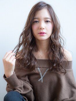 オーブ ヘアー フィオーレ 京都桂店(AUBE HAIR fiore)の写真/AUBE HAIRのデジタルパーマは絶妙な「こなれ感」「くずし感」ある自然な仕上がりも魅力!!柔らかな質感も◎