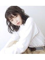 コクリ(kokuri)【梶谷担当】秋、冬トレンド☆クリアカーキグレージュ×艶ロブ