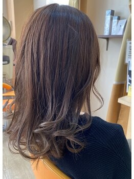 デザイニングヘアードゥ(designing hair Deux)の写真/【祝園駅直結】髪と頭皮に優しい酵素カラー、ヘナカラーで艶のある仕上がりに♪カラーも豊富に取り揃え♪