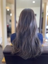 ルーセントヘアー(LUCENT HAIR)ダークグレージュ×波ウェーブ