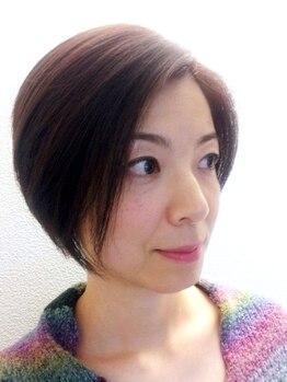 サンスマイルヘアー(Sun Smile hair)の写真/【女性限定☆平日昼割あり!】従来のグレイカラーでは出せない柔らかい質感で、艶やかな美しい仕上がりへ*