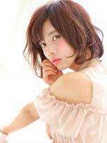 ピノ ウメダ(Pinot UMEDA)大人可愛い☆チェリーレッド×ふんわりドライウェットカール