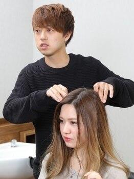 ヘアーアンドアイラッシュ グロー(Hair&Eyelash grow)の写真/お客様一人ひとり似合ったヘアスタイルをご提案☆ヘアスタイルや髪質などお悩みの方は是非ご相談下さい♪