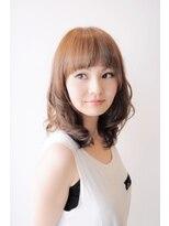 ヘアーメイクプレアー 飯塚店(HAIR MAKE PRAYER)大人可愛いグレージュセミディスタイル