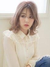 アグ ヘアー ウォール三宮店(Agu hair wall)《Agu hair》シースルーバングでふんわり色っぽミディ