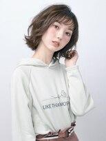 オーブ ヘアー アムール 学芸大学店(AUBE HAIR amour)【AUBE HAIR】軽やか外ハネシースルーバング