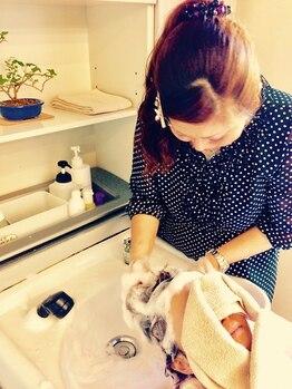 ヘアーズビオス(hair's Bios)の写真/リフレッシュにお勧め★炭酸ヘッドSPAはクリーミー泡で,頭皮のツボを気持ち良~くマッサージ♪