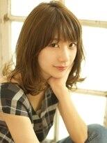 ベックヘアサロン 広尾店(BEKKU hair salon)ルーズなカールが可愛らしい!抜け感ミディアムヘア☆