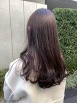*ブリーチなしピンクグレージュ暖色系カラー艶髪モテ髪ロング