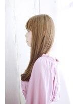 オン眉デザインカラー切りっぱなしボブ美髪マッシュウルフ/120