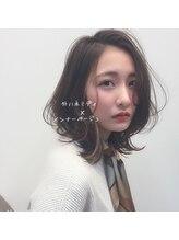 ワイビー グリーン リル(y.be green rel)外ハネミディ×インナーベージュ☆