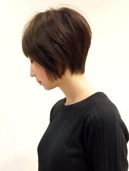 ヘアー ドレッサー パワードール(Hair Dresser)の写真/自然乾燥でもキレイにまとまる高技術カット◎あなただけのデザインに虜になるはず!毎日のお手入れも簡単♪