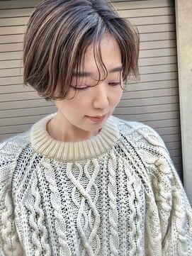 ワール(whirl.)ハンサムショート×ハイライトカラー☆
