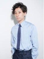 ビジネス★さわやか黒髪メンズパーマ【LUXBE 阿倍野ルシアス店】