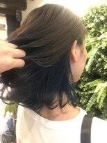 ノル(nol hair&spa)インナーカラー×ターコイズブルー