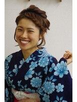 サロンド クラフト(salon de craft)【浴衣】ガーリーパールヘアアレンジ♪