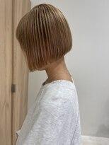 ラノバイヘアー(Lano by HAIR)【lano by hair 銀座】切りっぱなしボブくすみカラー