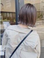 ヘアーアイスカルテット(HAIR ICI QUARTET)rena◯グレージュ艶カラー ブリーチあり ヌーディ