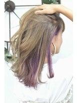 ヘアーサロン エール 原宿(hair salon ailes)(ailes 原宿)style371インナーカラー☆スモーキーヴァイオレット