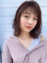 バロン 新宿店(baLon.)人気のセミウェット! ゆるふわ 愛されミディアムスタイル