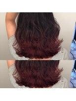 ヘアアンドヒーリング クローバー(Hair&Healing Clover)red gradation